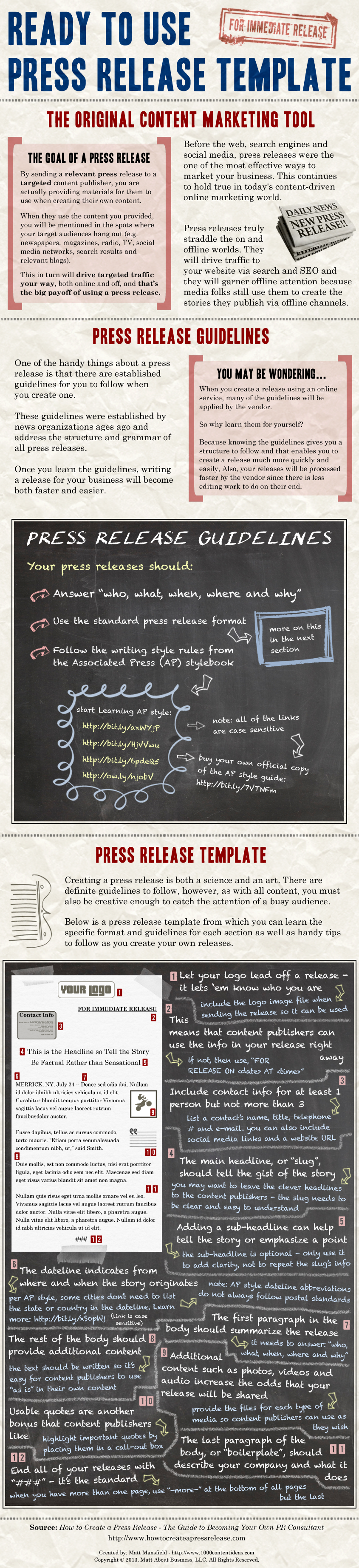 Infographic - Press Release Template