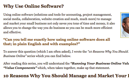 Why Use Online Software?