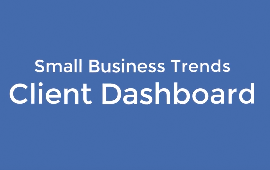 Small Business Trends Client Dashboard